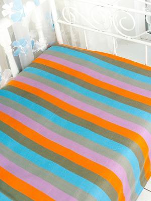Покрывало ARLONI. Цвет: оранжевый, розовый, серый, голубой