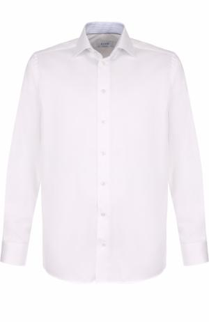 Хлопковая сорочка с воротником кент Eton. Цвет: белый