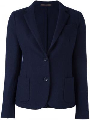 Пиджак с застежкой на две пуговицы Eleventy. Цвет: синий