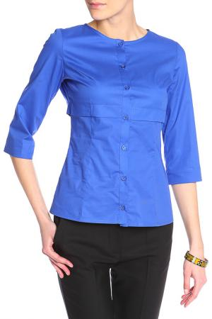 Блузка Энсо. Цвет: синий
