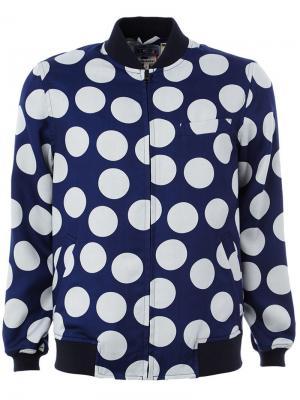 Куртка-бомбер в горох Blue Japan. Цвет: синий
