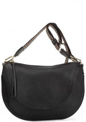 Кожаная сумка через плечо с одним отделом Gianni Chiarini. Цвет: черный