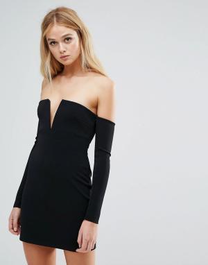 Bec & Bridge Платье мини Cosmology. Цвет: черный