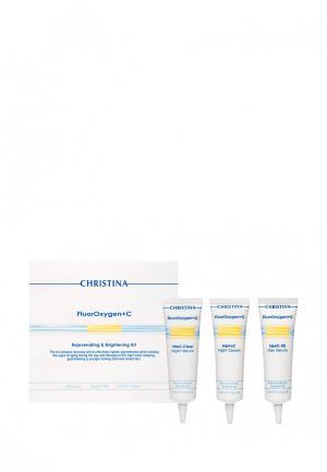 Набор для ухода за кожей лица домашнего использования Christina. Цвет: белый