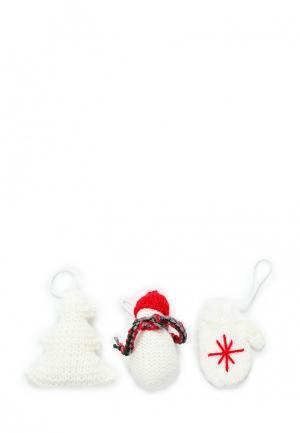 Набор сувенирный Knitted Kiss. Цвет: белый