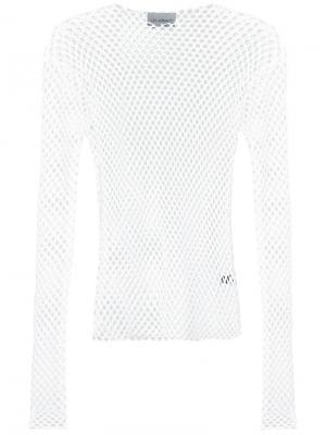 Эластичная сетчатая футболка Les Animaux. Цвет: белый