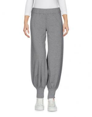Повседневные брюки NORMA KAMALI. Цвет: серый