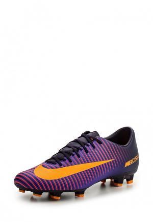 Бутсы Nike. Цвет: фиолетовый