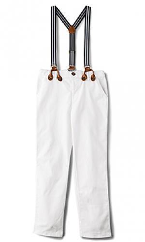 Обычные брюки чино Bardot Junior. Цвет: белый