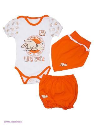 Комплект одежды Апрель. Цвет: оранжевый, белый