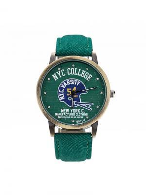 Часы наручные Feifan. Серия College Feifan. Цвет: зеленый