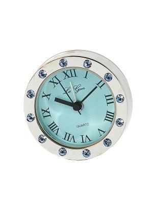 Часы LA GEER с функцией будильник. Цвет: светло-голубой, серебристый, прозрачный