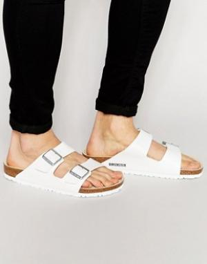 Birkenstock Белые сандалии. Цвет: белый