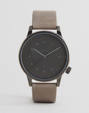 Komono Часы с бежевым кожаным ремешком Winston Regal. Цвет: бежевый