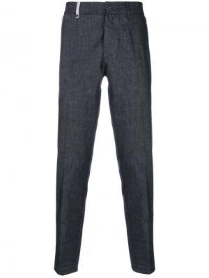 Текстурированные брюки Al Duca D'Aosta 1902. Цвет: синий