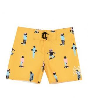 Пляжные брюки и шорты SORT OF LOOSER. Цвет: охра