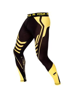 Компрессионные тайтсы Venum Technical Black/Yellow. Цвет: черный,желтый