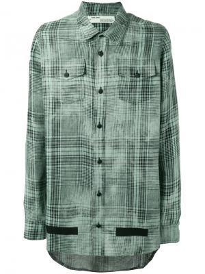 Свободная рубашка Off-White. Цвет: зелёный