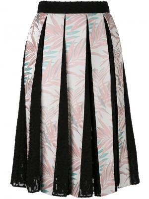 Плиссированная юбка House Of Holland. Цвет: многоцветный