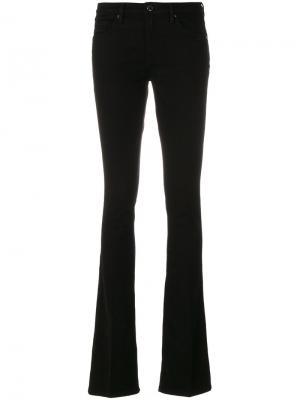 Строгие брюки клеш Victoria Beckham. Цвет: чёрный