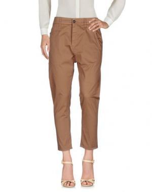 Повседневные брюки NOVEMB3R. Цвет: коричневый