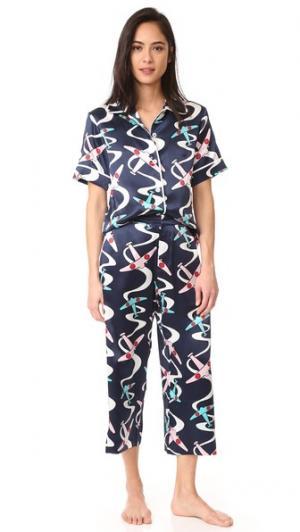 Пижама Daria Amelia Olivia von Halle. Цвет: темно-синий