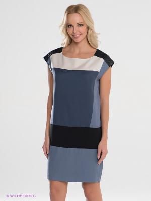 Платье Top Secret. Цвет: серо-голубой, черный, синий