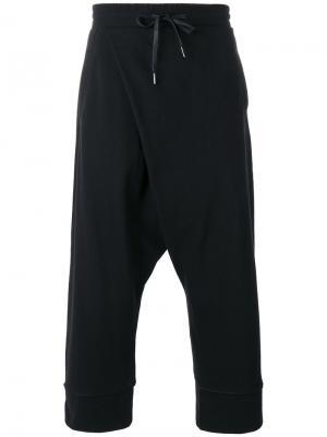 Cropped track pants D.Gnak. Цвет: чёрный
