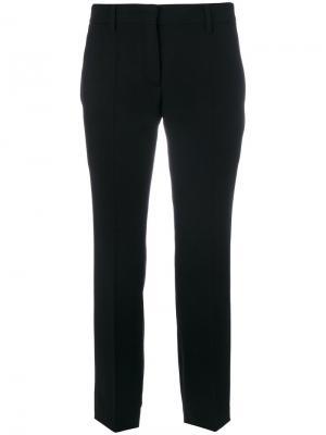 Укороченные брюки строгого кроя Prada. Цвет: чёрный