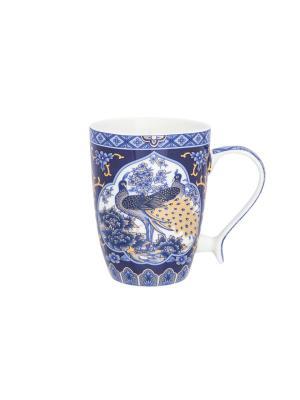Кружка Павлин синий Elan Gallery. Цвет: белый, синий