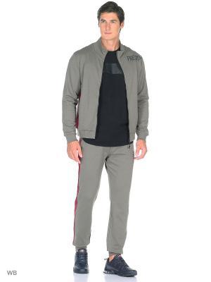 Спортивный костюм Freddy. Цвет: серый, бордовый