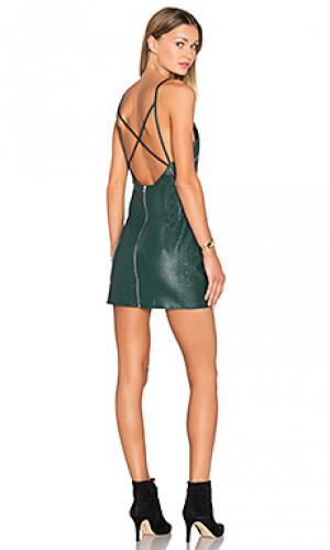 Платье dont cross me NBD. Цвет: темно-зеленый