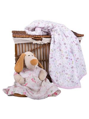 Одеяло трикотажное 75х90 Розовые тигрята DAISY. Цвет: розовый,белый