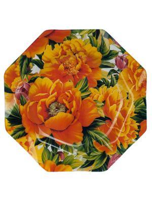 Тарелка 30 см Elff Ceramics. Цвет: желтый, зеленый, красный