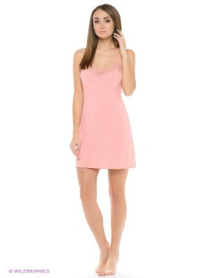 Ночная сорочка Oodji. Цвет: розовый
