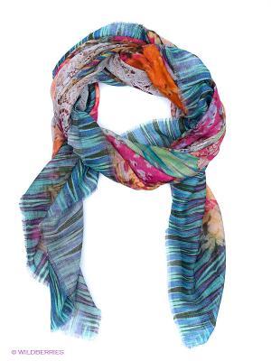 Платок Venera. Цвет: розовый, желтый, синий, зеленый, бирюзовый, малиновый, фиолетовый, оранжевый
