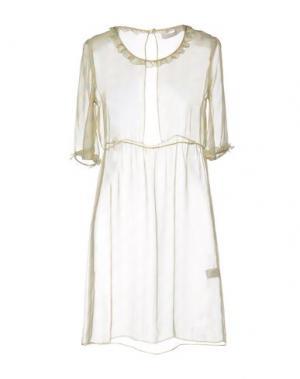 Короткое платье KRISTINA TI. Цвет: желтый