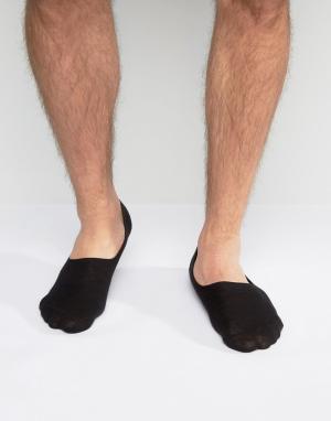 ASOS Черные спортивные носки из вафельной ткани. Цвет: черный