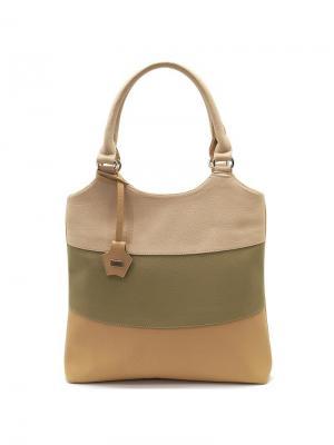 Сумка Solo true bags. Цвет: бежевый, оливковый, светло-бежевый