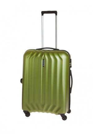 Чемодан 68л (M) Carlton. Цвет: зеленый