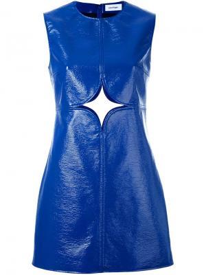 Платье шифт с вырезной деталью Courrèges. Цвет: синий