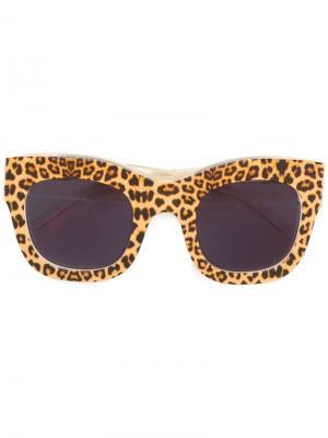 Солнцезащитные очки Hamilton Illesteva. Цвет: телесный
