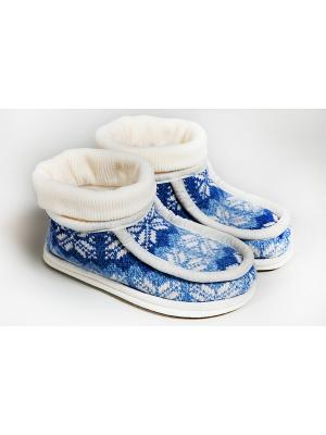 Тапочки Woolhouse. Цвет: белый, голубой