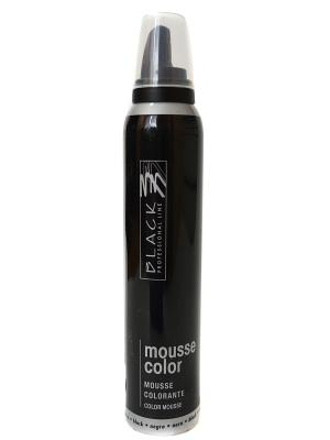 Цветной мусс для укладки волос (темно коричневый) Black. Цвет: черный