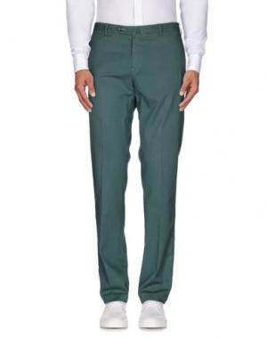 Повседневные брюки SARTORE. Цвет: зеленый