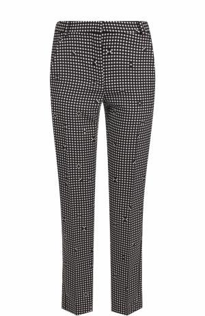 Укороченные брюки в клетку с карманами Carven. Цвет: черный
