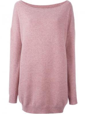 Джемпер с вырезом-лодочкой Extreme Cashmere. Цвет: розовый и фиолетовый
