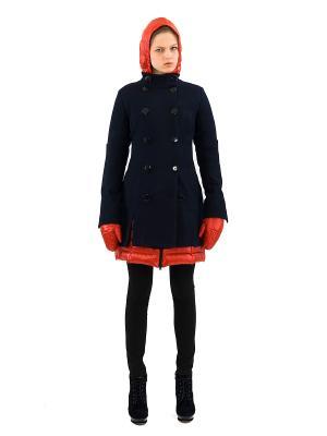 Комплект Пуховик и Пальто DOCTOR E. Цвет: синий, оранжевый
