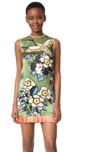 Платье без рукавов DSQUARED2. Цвет: зеленый