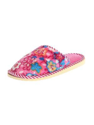 Тапочки домашние женские Migura. Цвет: розовый, белый, синий, красный, оранжевый